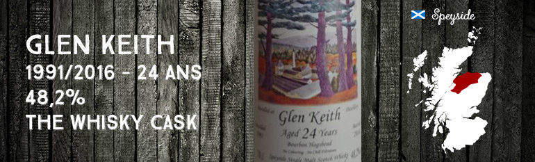 Glen Keith – 1991/2016 – 24yo – 48,2% – The Whisky Cask