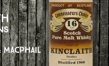 Kinclaith - 1966 - 16yo - 40% - Gordon & Macphail - Brown Label