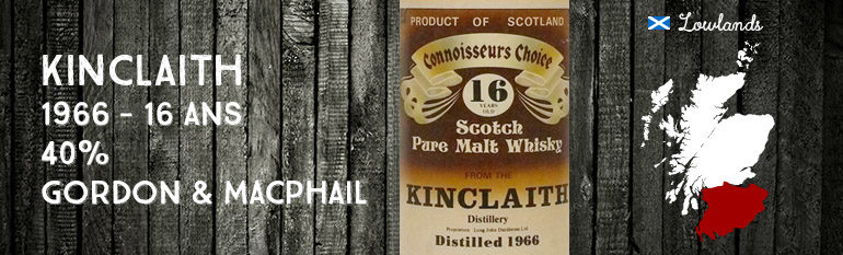 Kinclaith – 1966 – 16yo – 40% – Gordon & Macphail – Brown Label