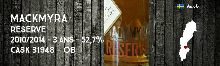 Mackmyra – Reserve – 2010/2014 – 3yo – 52,7% – Cask 31948 – OB