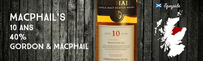 Macphail's – 10yo – 40% – Gordon & MacPhail