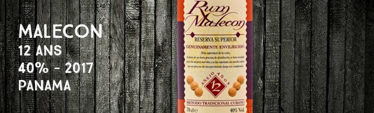 Malecon – 12yo – 40% – 2017 – Panama
