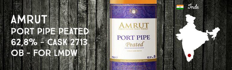 Amrut – Port Pipe – Peated – 62,8% – Cask 2713 – OB – for La Maison Du Whisky – Cellar Book