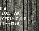 Caol Ila – 15yo – 43% – OB – Golden Ceramic Jug – Bulloch Lade & Co / Zenith-Italia Bonfanti – env. 1988