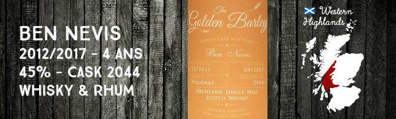 Ben Nevis – 2012/2017 – 4 ans – 45% – Cask 2044 – Whisky & Rhum – The Golden Barley