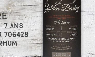 Ardmore - 2009/2017 - 7 ans - 45% - Cask 706428 - Whisky & Rhum - The Golden Barley