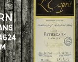 Fettercairn – 2008/2017 – 8 ans – 58,4% – Cask 4624 – Whisky & Rhum – L'Esprit