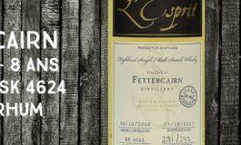 Fettercairn - 2008/2017 - 8 ans - 58,4% - Cask 4624 - Whisky & Rhum - L'Esprit