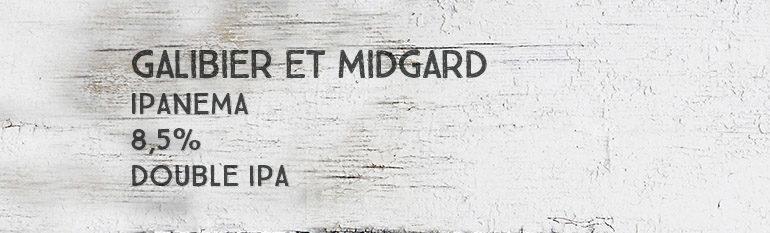 Galibier & Les Bières de Midgard – Ipanema – 8,5% – Double IPA