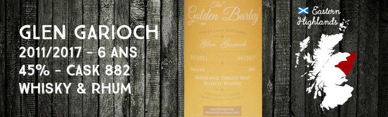 Glen Garioch – 2011/2017 – 6 ans – 45% – Cask 882 – Whisky & Rhum – The Golden Barley