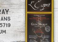 Glen Moray - 2007/2017 - 9 ans - 61,7% - Cask 5719 - Whisky & Rhum - L'Esprit