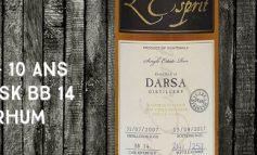 Darsa - 2007/2017 - 10 ans - 59,6% - Cask BB 14 - Whisky & Rhum - L'esprit - Single Cask Collection - Guatemala
