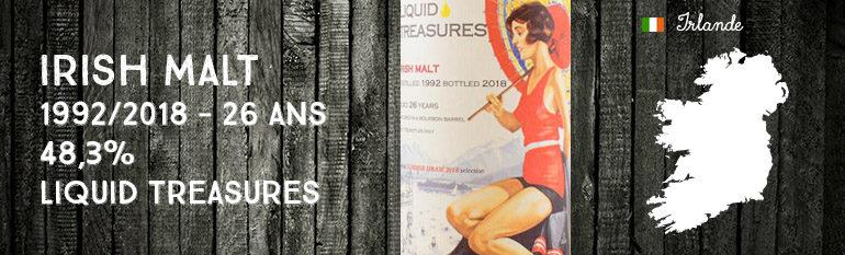Irish Malt – 1992/2018 – 26 ans – 48,3% – Liquid Treasures – Special Summer Dram 2018 Selection
