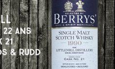 Littlemill - 1990/2013 - 22 ans - 46% - Cask 21 - Berry Bros & Rudd