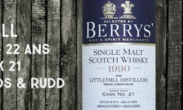 Littlemill - 1990/2013 - 22 ans - 46% - Cask 21 - Berry Bros & Rudd