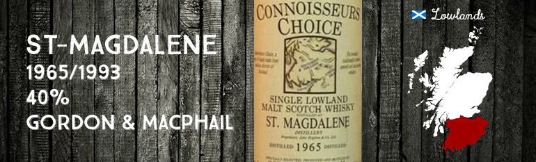 St Magdalene – 1965/1993 – 40% – Gordon & MacPhail – Connoisseurs Choice – Old Map Label