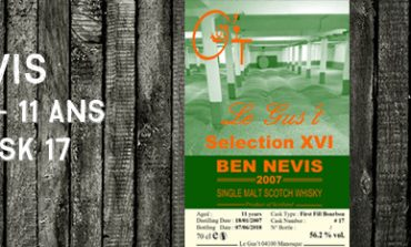 Ben Nevis - 2007/2018 - 11 ans - 56,2% - Cask 17 - Le Gus't - Selection XVI
