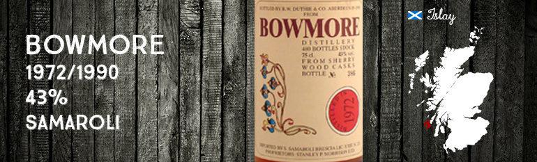 Bowmore – 1972/1990 – 43% – Samaroli – Flowers