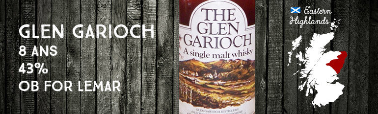 Glen Garioch – 8 ans – 43% – OB for Lemar – Brown Dumpy Bottle