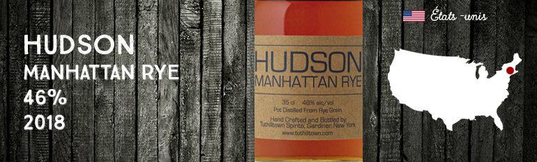 Hudson – Manhattan Rye – 46% – 2018