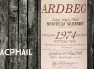 Ardbeg - 1974/1996 - 40% - Gordon & MacPhail - for Meregalli