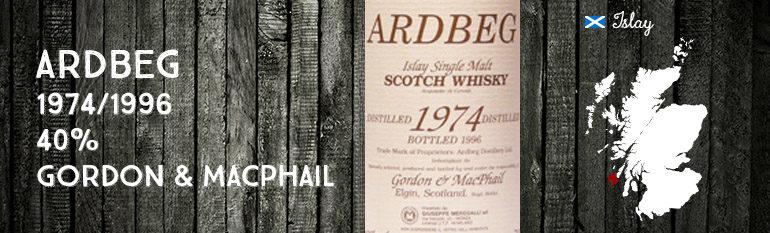 Ardbeg – 1974/1996 – 40% – Gordon & MacPhail – for Meregalli