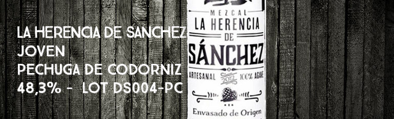 La Herencia de Sanchez – Joven – Pechuga de Codorniz – 48,3% – Lot DS004-PC