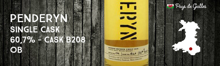 Penderyn – Single Cask – 60,7% – Cask B208 – OB