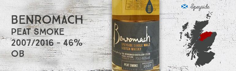 Benromach – Peat Smoke – 2007/2016 – 46% – OB
