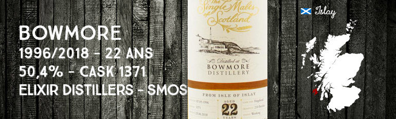 Bowmore – 1996/2018 – 22 ans – 50,4% – Cask 1371 – Elixir Distillers – The Single Malts of Scotland