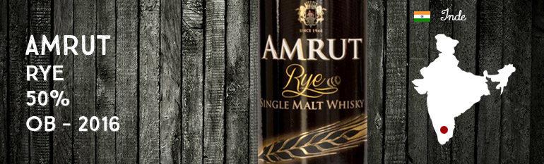 Amrut – Rye – 50% – OB – 2016