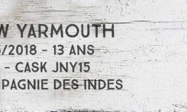 New Yarmouth – 2005/2018 – 13 ans – 55% – Cask JNY15 – Compagnie des Indes – Jamaïque